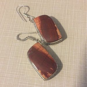 Jewelry - Beautiful Natural REAL Snakeskin Jasper Earrings